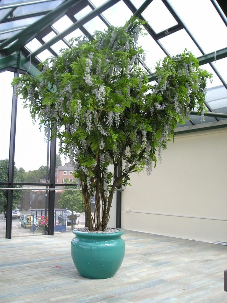12ft artificial Lilac Wisteria tree