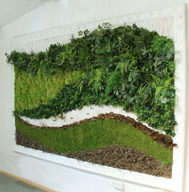 2m x 1m preserved moss and foliage green picture
