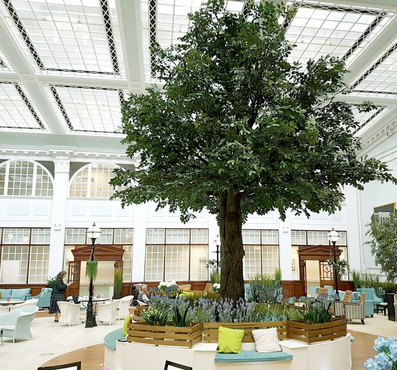 7 metre giant artificial Oak tree with resin trunk