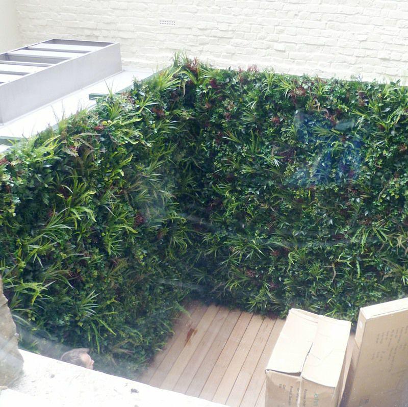 Artficial Green wall in courtyard