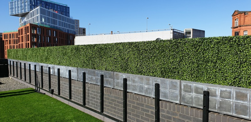 Artificial Hedging for roof terrace