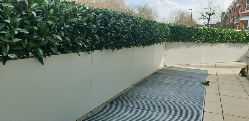 Artificial bay hedging raised