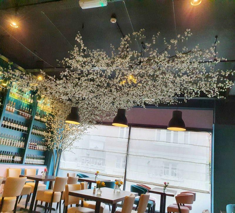 Artificial blossom ceiling tree