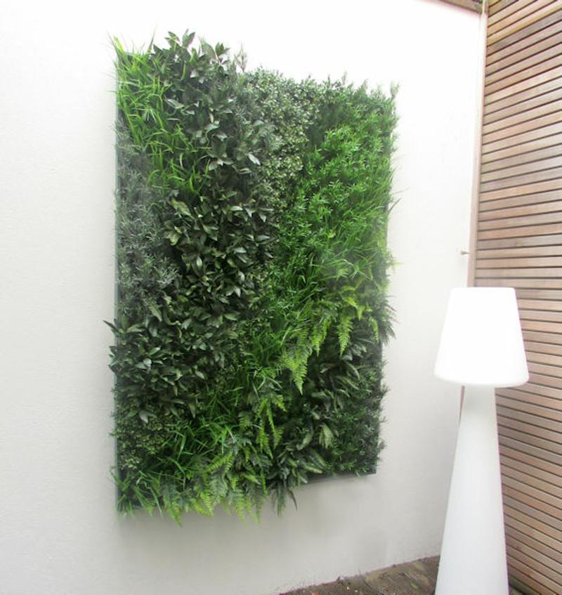 Artificial green wall panel