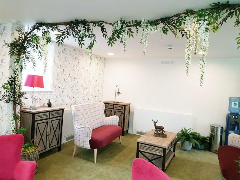 Artificial wisteria white
