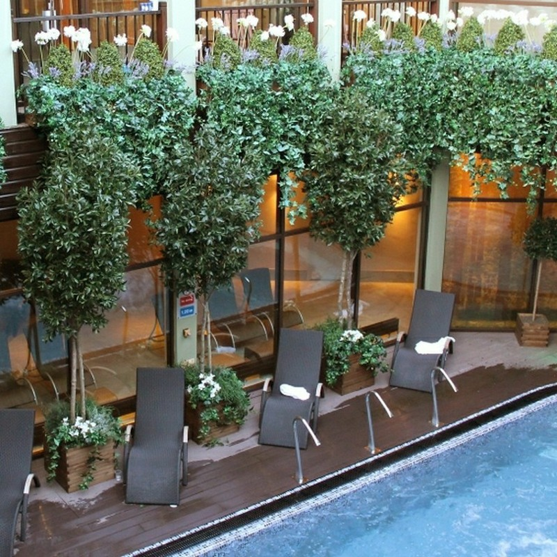 Bespoke made Artificial Bay trees 4 metres for exterior use