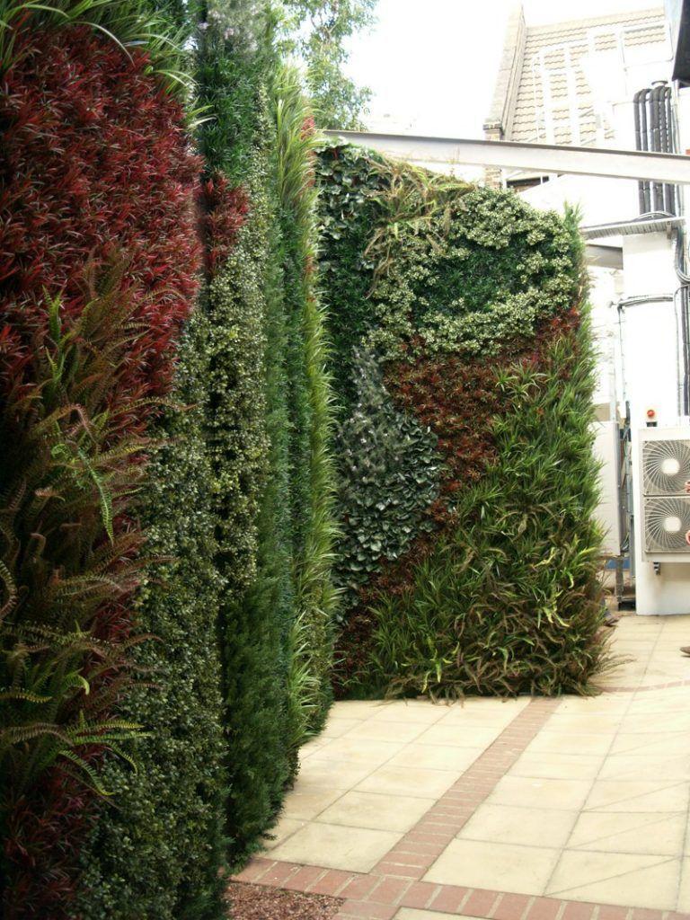 Exterior Grade wall around air conditioning unit