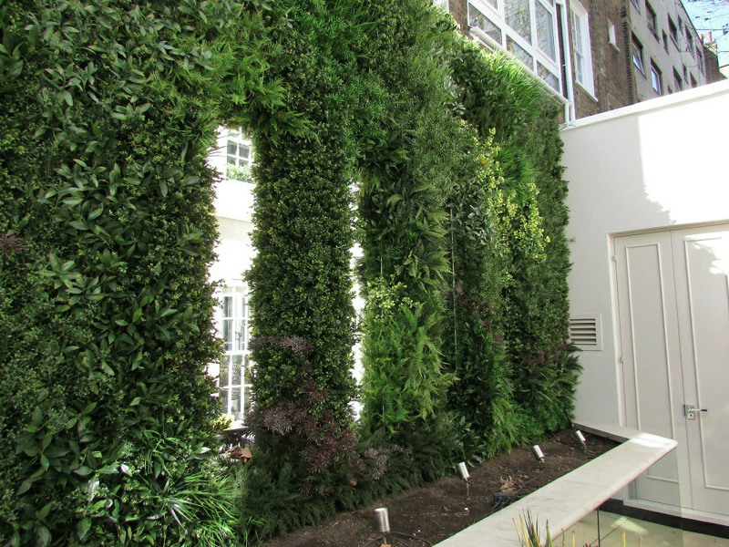 Exterior Plant Wall with viewing sections