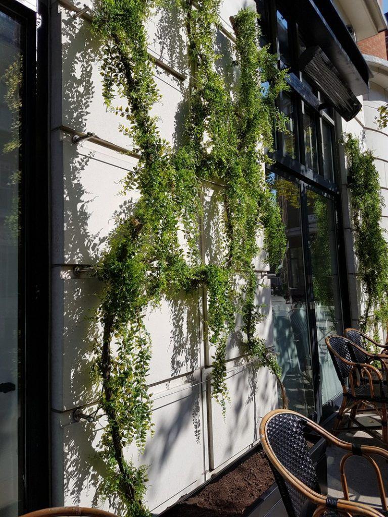 Exterior grade plastic fern vines