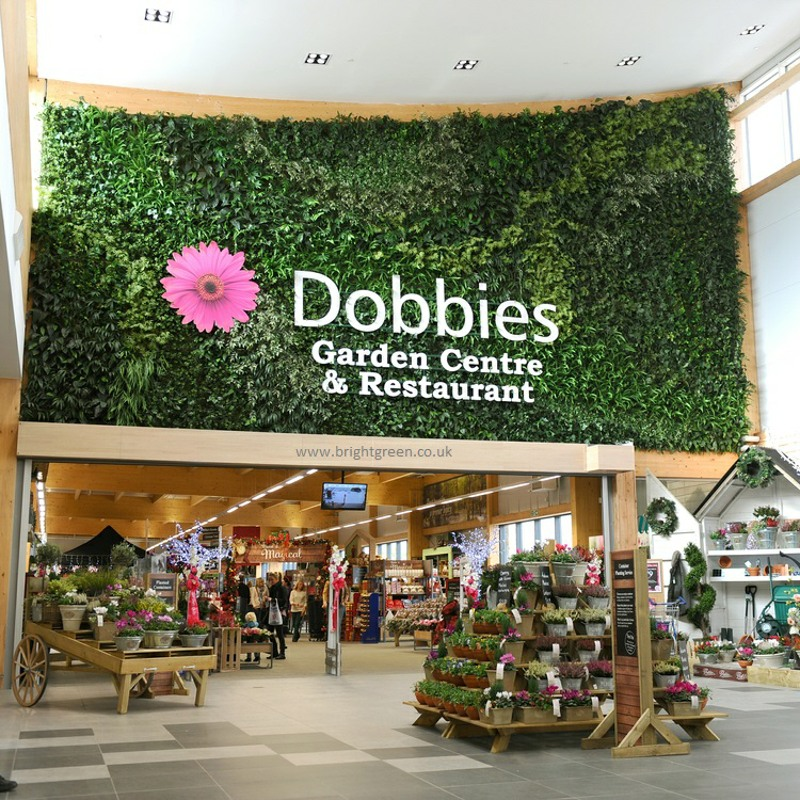 Fire rated artificial green wall for Dobbies 1