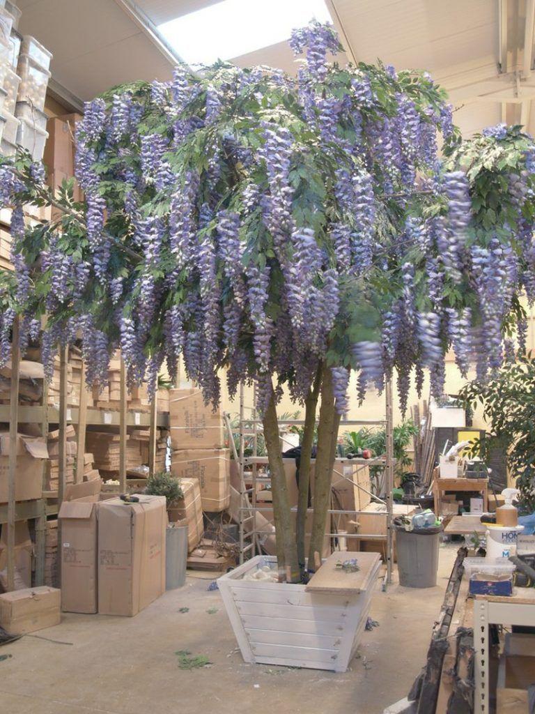 Giant faux Lilac Wisteria tree