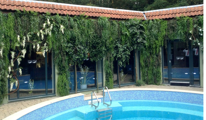 Green wall oasis for Center parcs spa