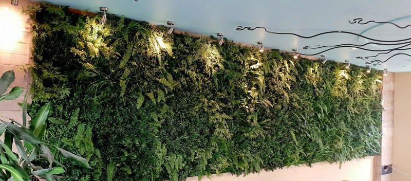 Landscape artificial green wall