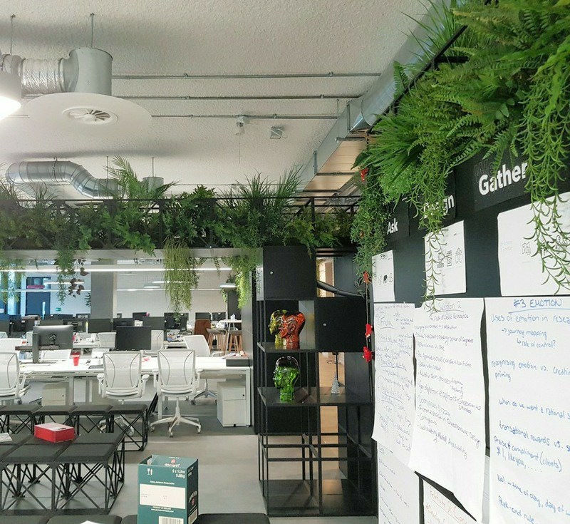 Office high level artificial planting
