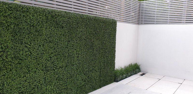 Outdoor artificial buxus wall