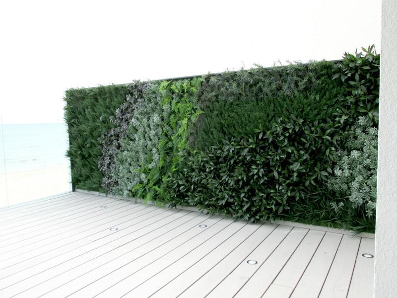 Outdoor green wall seaside