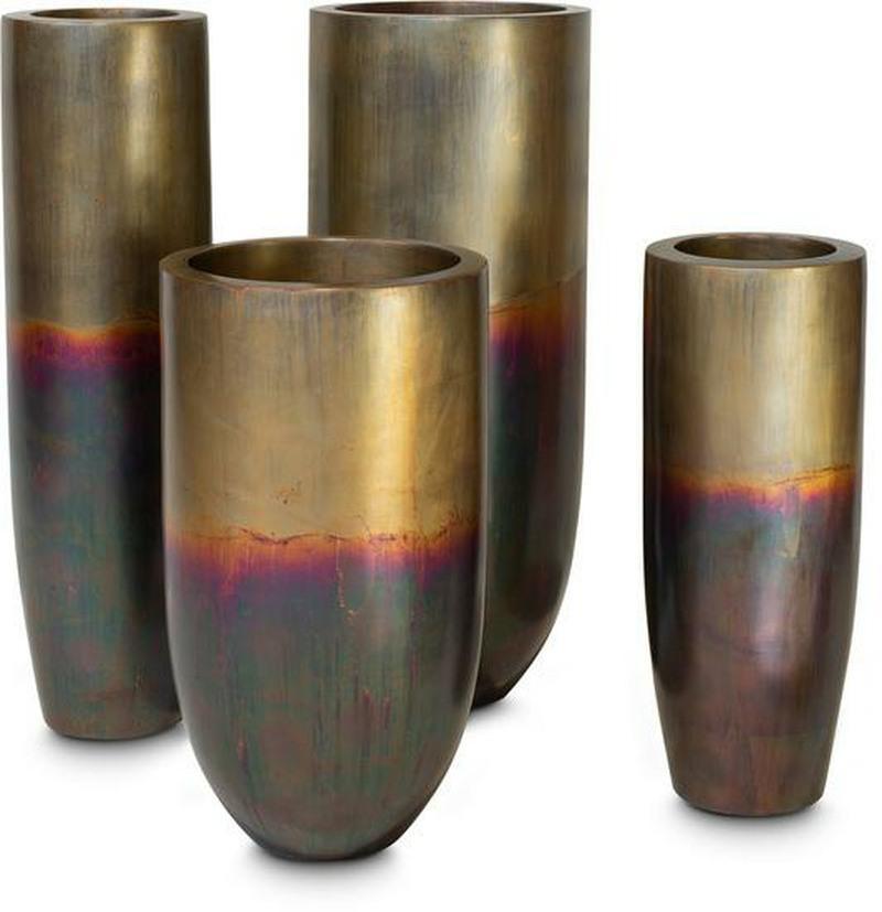 Pandorra planter in oxidised brass
