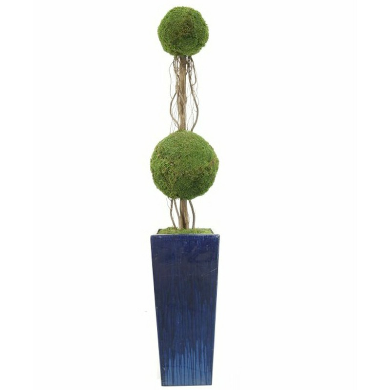 Preserved Flat Moss Double Moss Ball with Willow