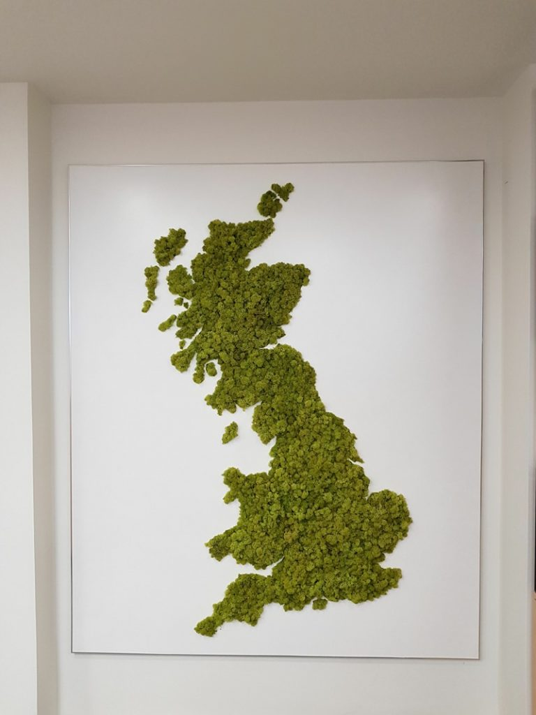 Reindeer Moss UK Map