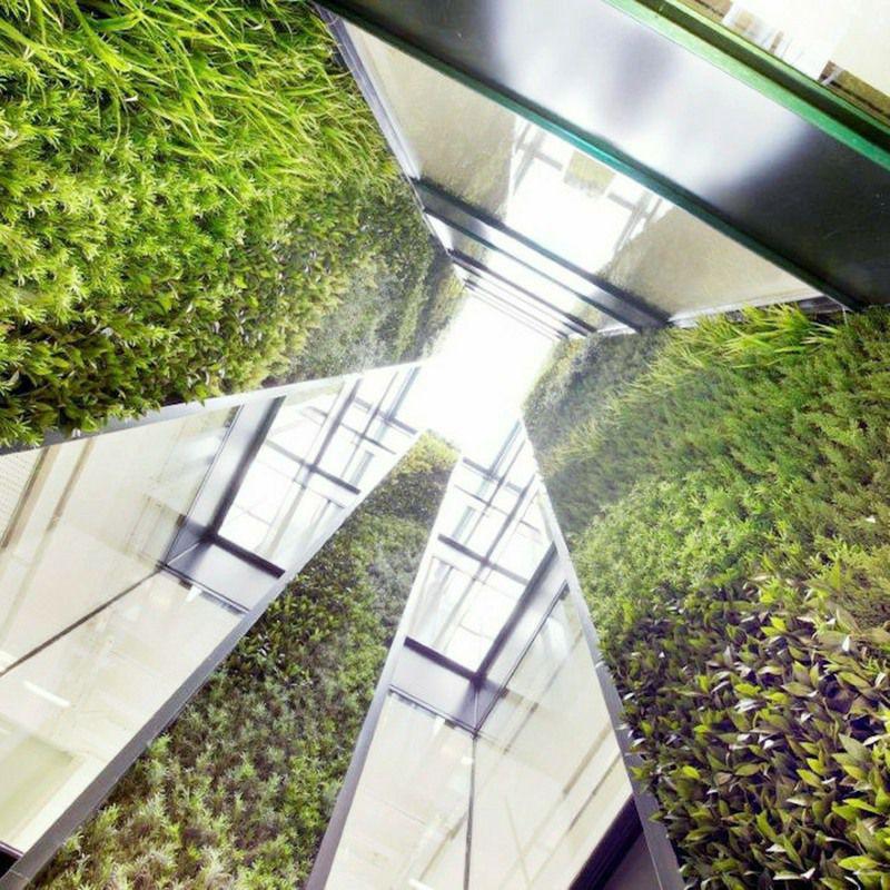 Vertical Artificial Green Wall in light well