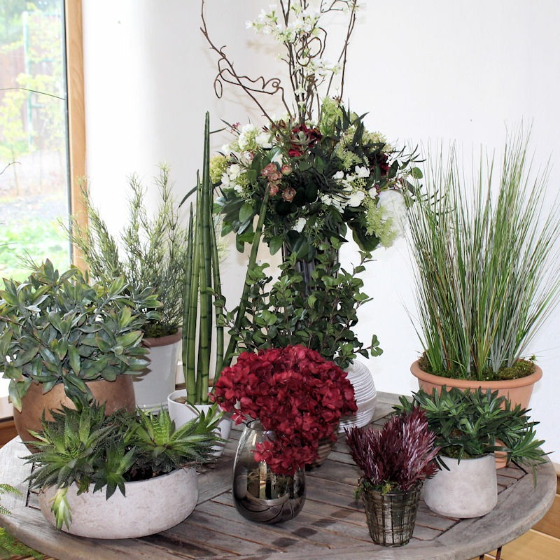 collection of artificlal plants
