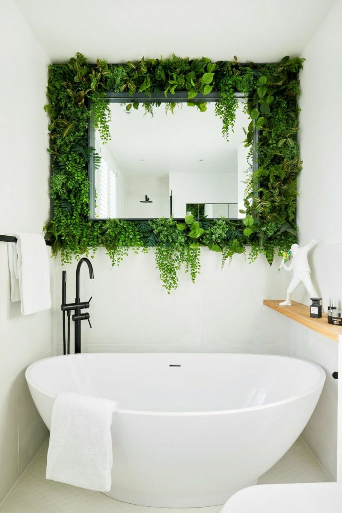 replica green wall for bathroom