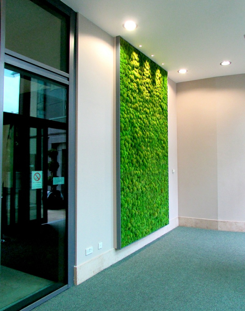 simple moss wall panel
