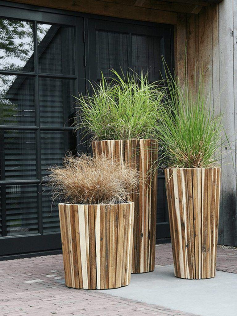 Marrone Acacia planters