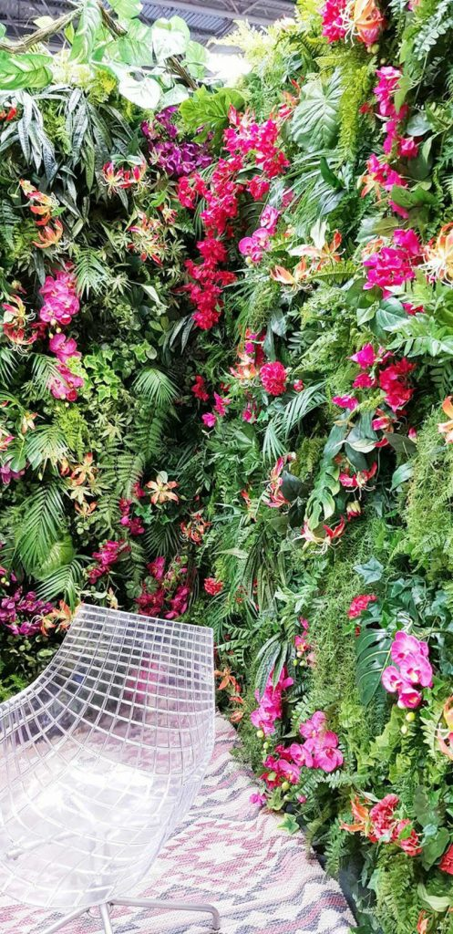 Artificial green wall tropical floral
