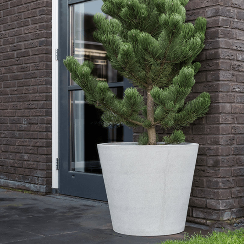NK Stone Bucket L brushed cement 2